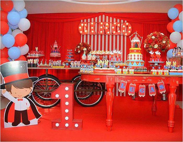 bright circus birthday party