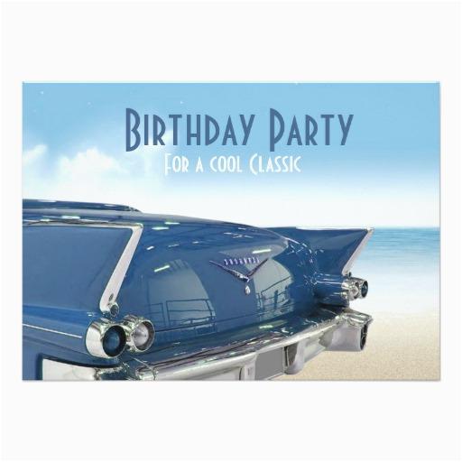 Classic Car Birthday Invitations Cool Classic Car 60th Birthday Party Invitation Zazzle