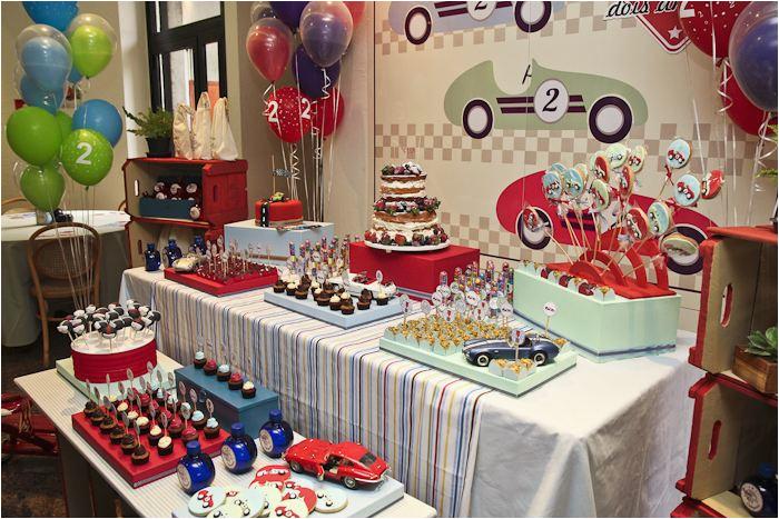 vintage race car birthday party 2