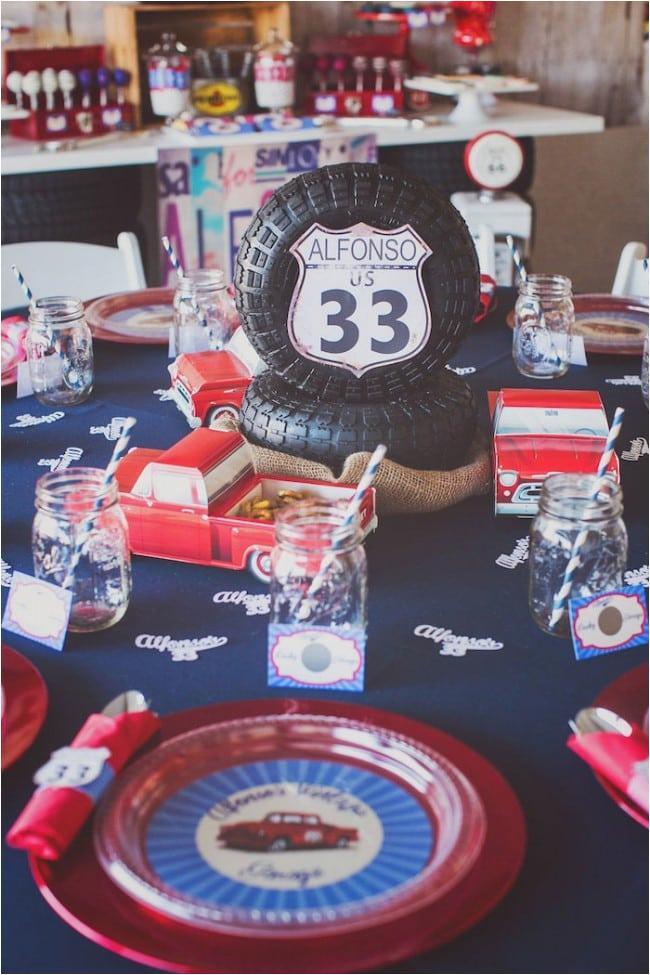 vintage truck birthday party