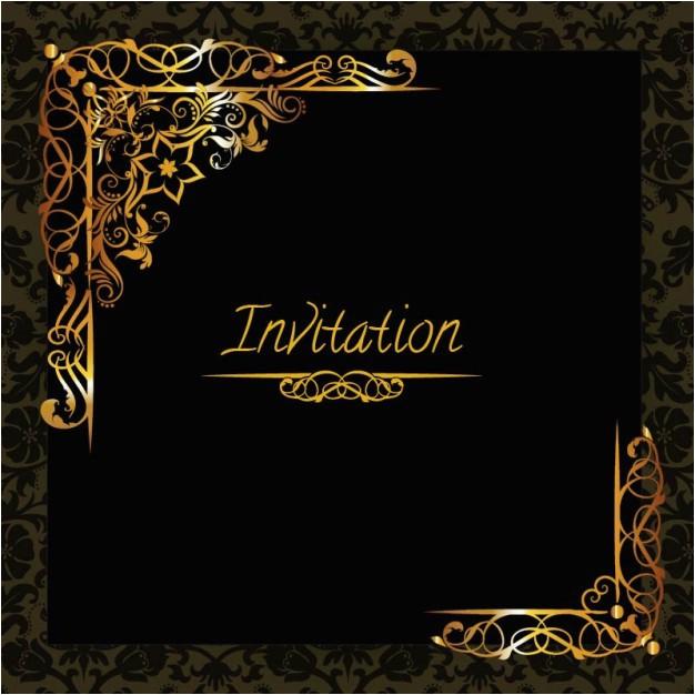 elegant golden design invitation template 720788