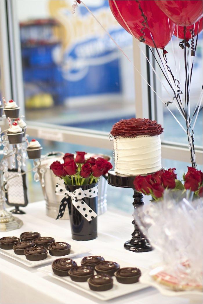 054699381ee black white red elegant birthday party via karas party ideas karaspartyideas  com11