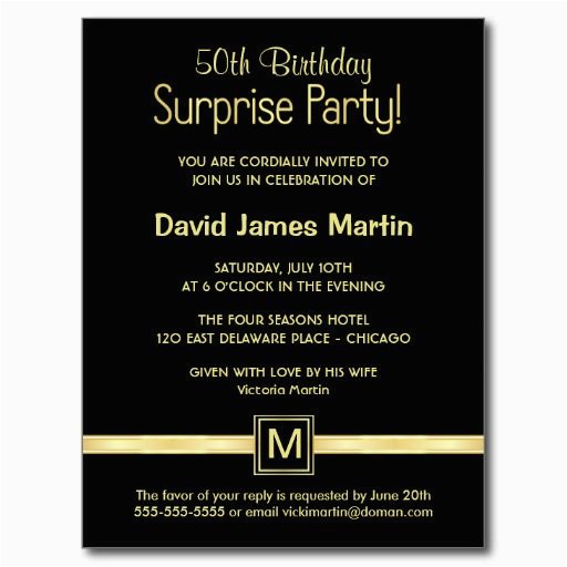 Clever 50th Birthday Invitation Wording Surprise Party Invitations Free