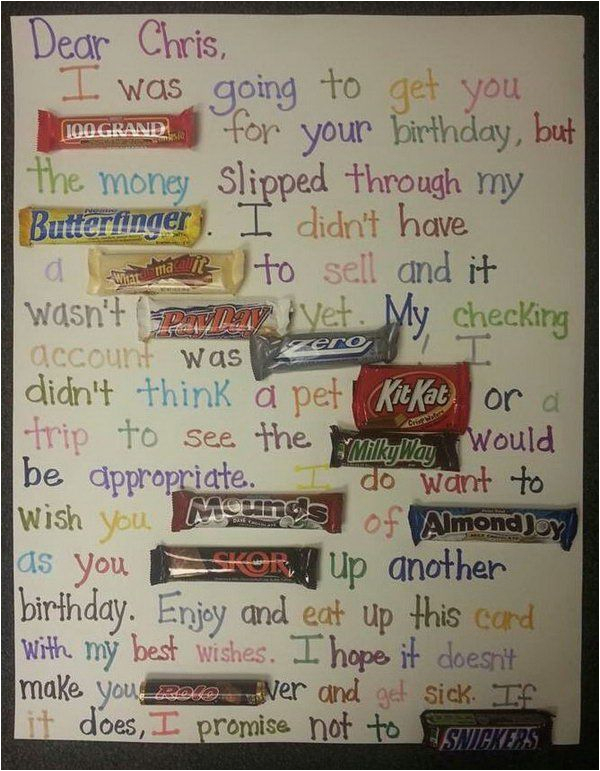 Clever Birthday Card Sayings Best 25 Ideas On Pinterest Candy Bar