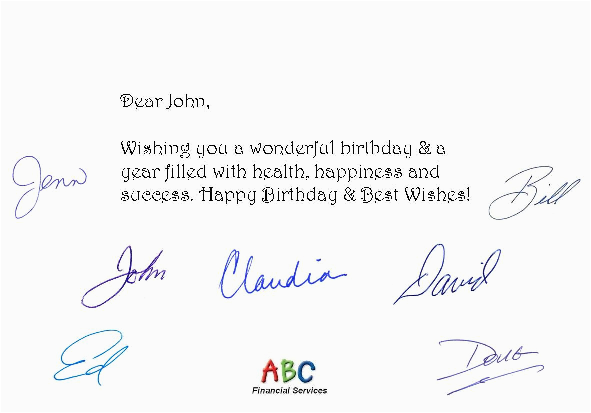 Client Birthday Card Messages Fully Automated Birthday Card Service Helps Professionals