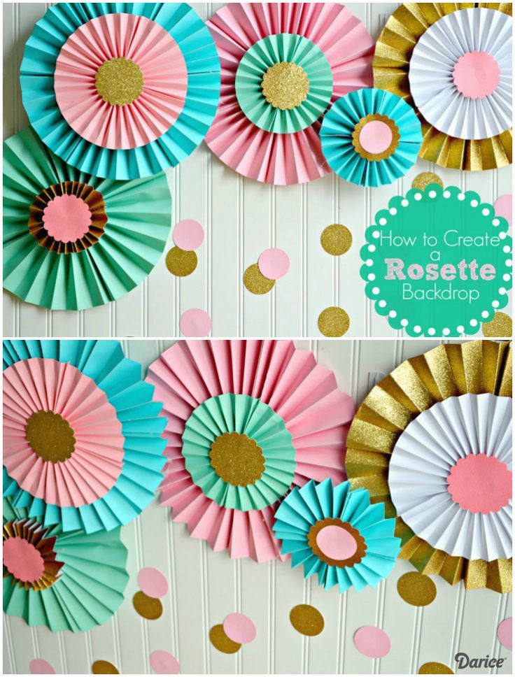 Color Paper Decorations Birthday Best 25 Ideas On Pinterest Flowers