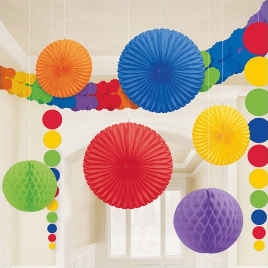 wabenball girlanden faecher lampion deko set honeycomb ball