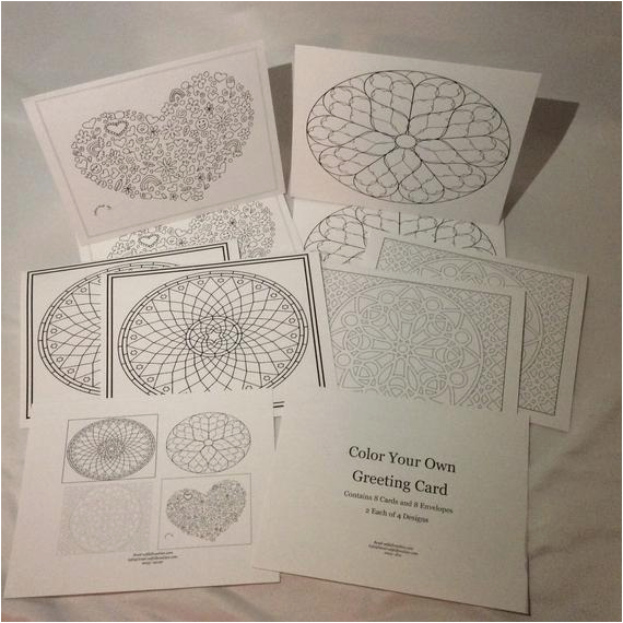 color your own greeting cards set 7