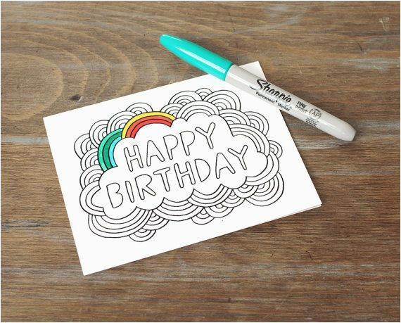 card happy birthday color your own card diy birthday ca