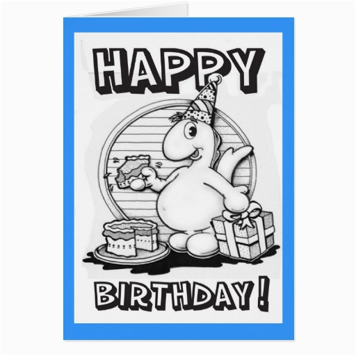 color your own birthday card zazzle