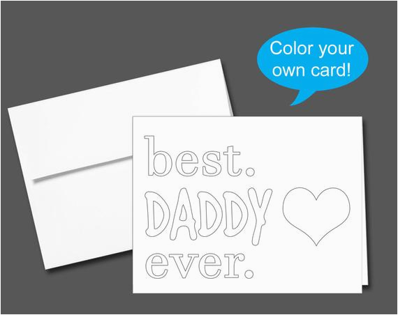 Color Your Own Birthday Cards Printable Color Your Own Birthday Card or Father 39 S Day