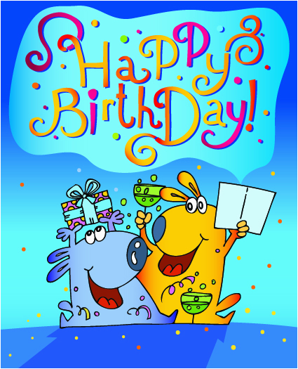 funny cartoon birthday cards vector 01 vector birthday