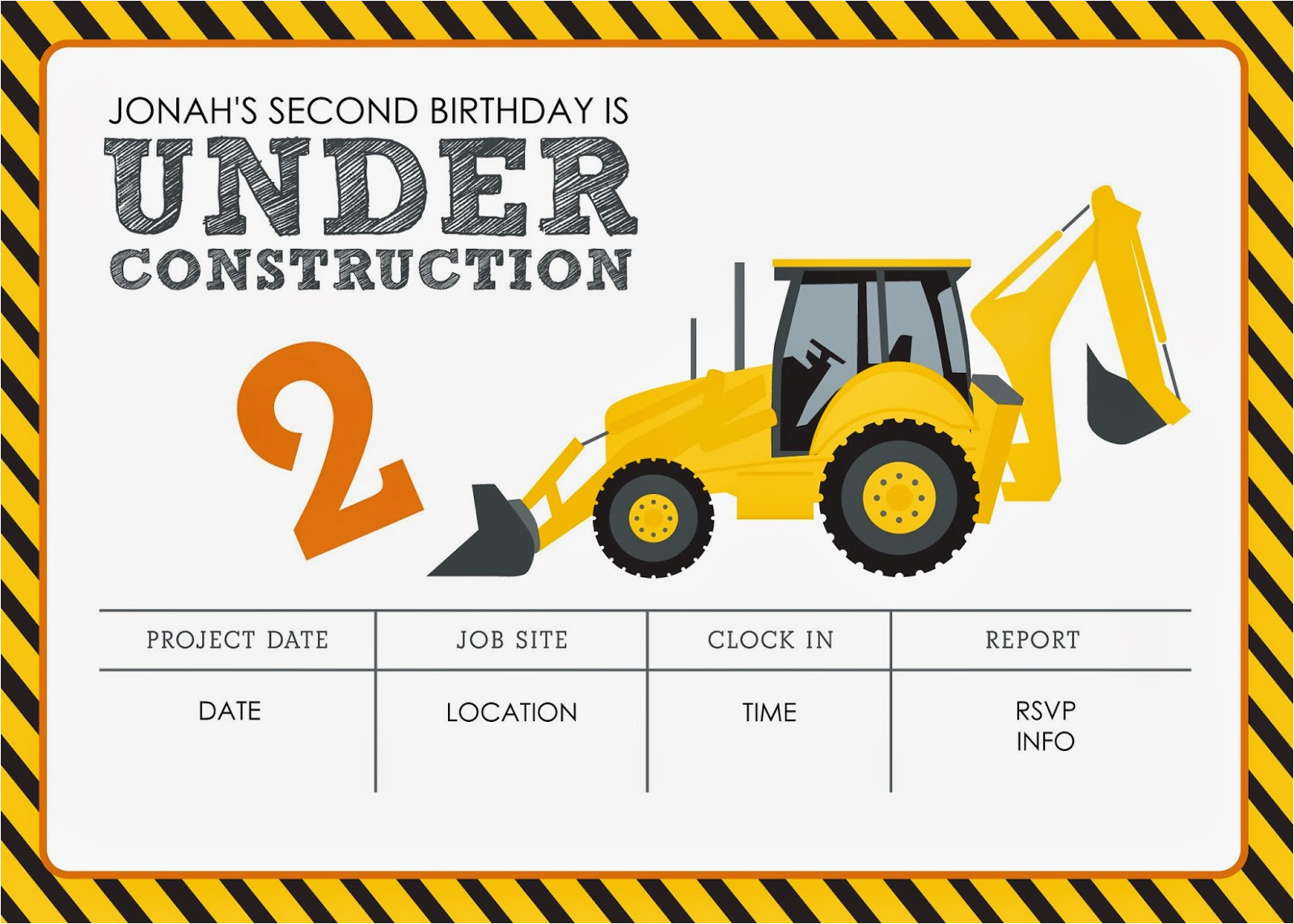 Construction theme Birthday Invitations Construction themed Birthday Party Free Printables