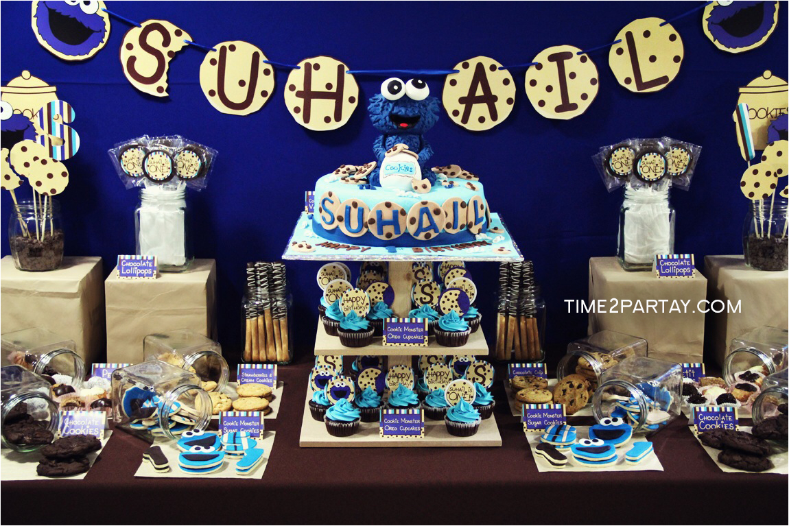Cookie Monster Party Supplies House Cookies