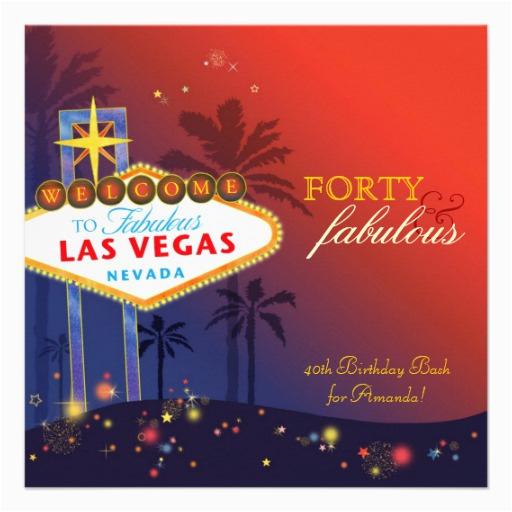 Unique 40th Las Vegas Birthday Party Invitations 161328751183028770
