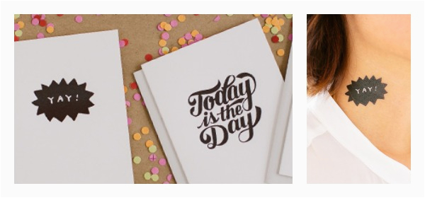 Coolest Birthday Cards the Coolest Temporary Tattoos are now the Coolest Greeting