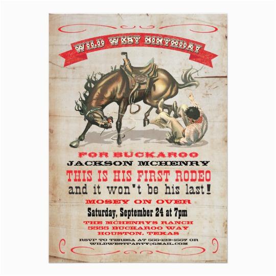 Cowboy 1st Birthday Invitations Cowboy Western 1st Birthday Party Invitations Zazzle Co Uk