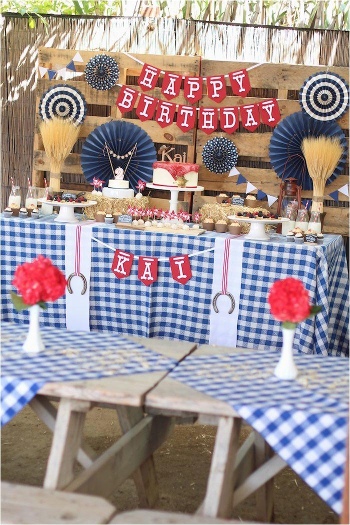 western cowboy birthday party