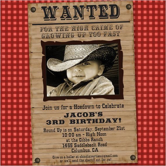 Cowboy Invites Birthday 11 Beautiful and Unique Looking Western Birthday