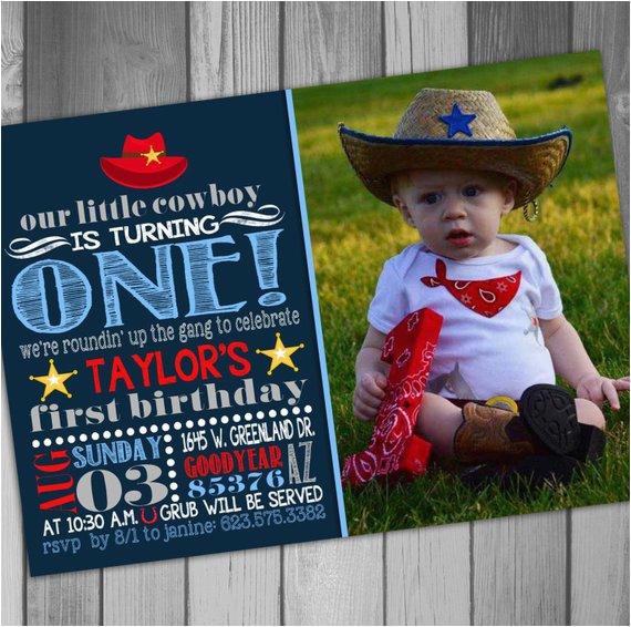 cowboy birthday invitation western