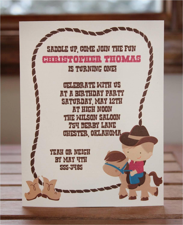 Cowgirl Birthday Invitation Wording Western Party Invitations Party Invitations Templates