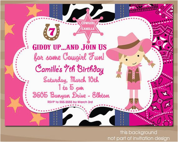Cowgirl Themed Birthday Invitations 17 Best Images About Cow Girl