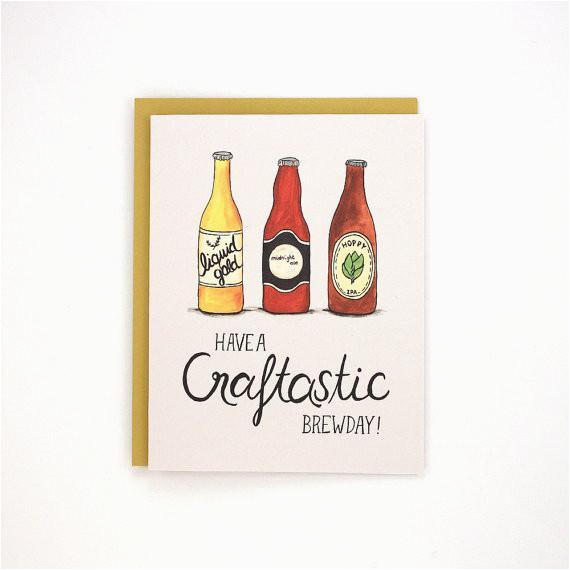 Craft Beer Birthday Card Craft Beer Bday Card by Made In Brockton Village at Maker