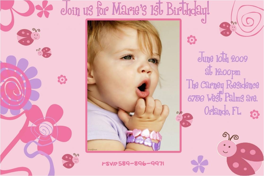Create 1st Birthday Invitation Card For Free Birthdaybuzz