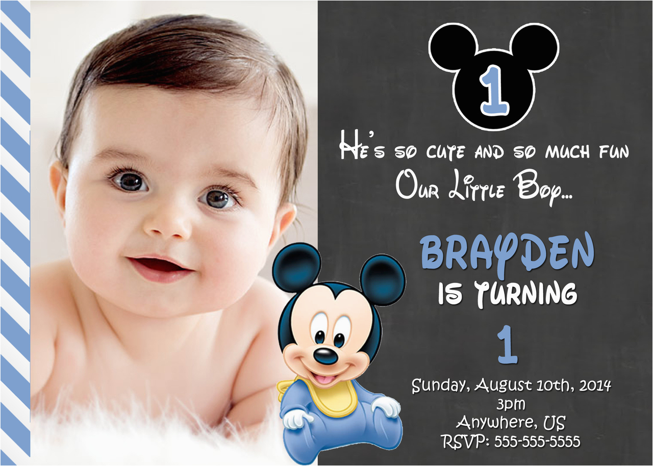 photo regarding Free Printable Mickey Mouse 1st Birthday Invitations referred to as Acquire 1st Birthday Invitation Card for No cost Absolutely free Printable