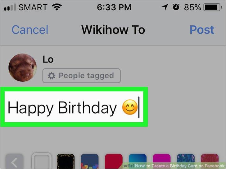 create a birthday card on facebook