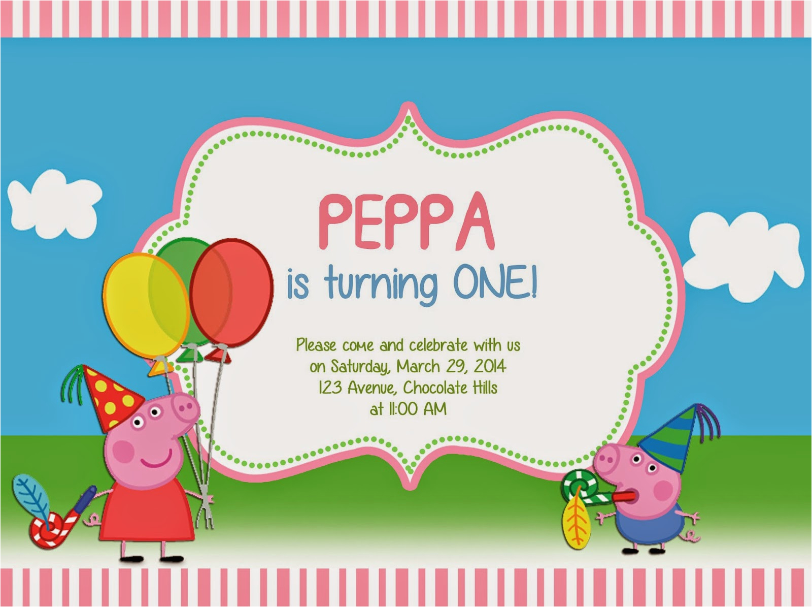 Create A Birthday Invite Online Free Create Peppa Pig Birthday