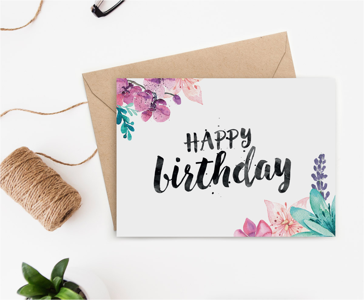 printable birthday card secret garden