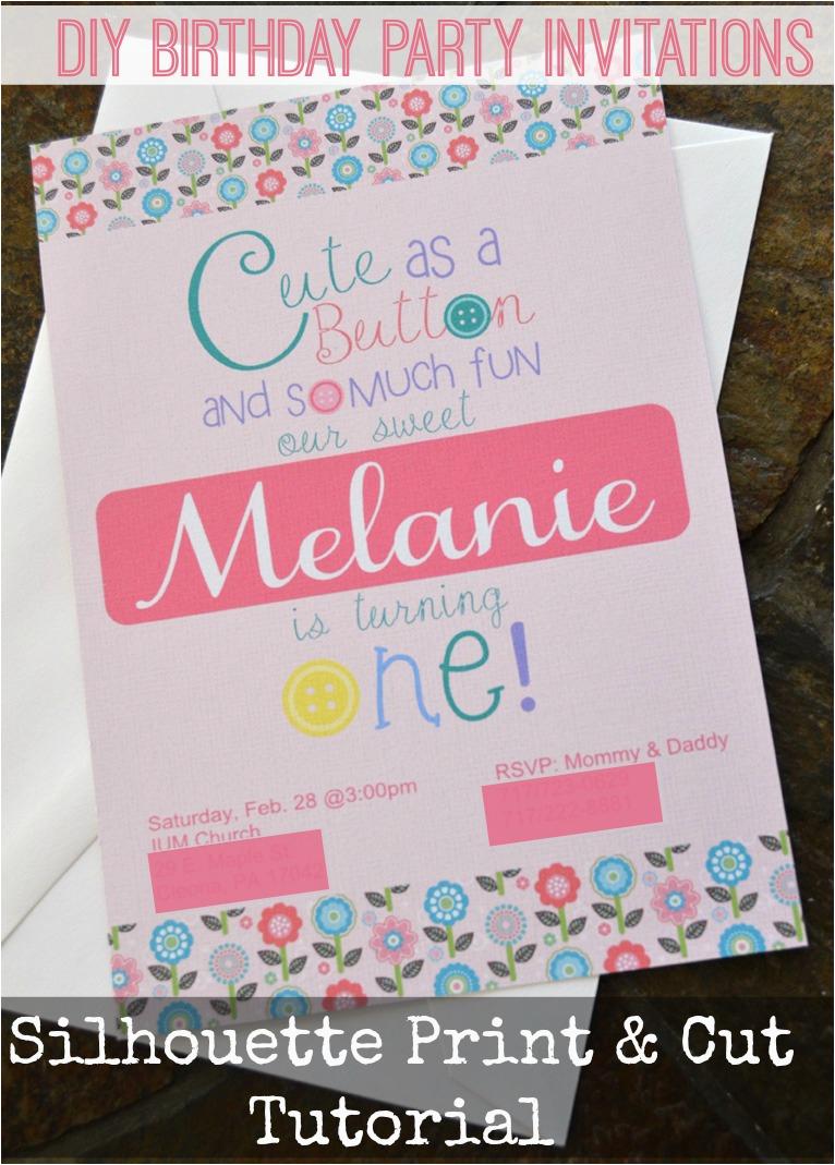 print cut birthday invitations