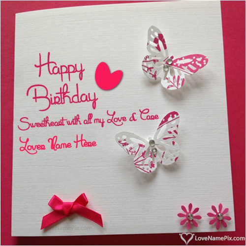 birthday wishes cards for lover with name happy birthday create wish card online