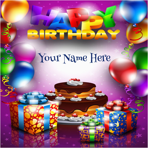 create birthday card with name 8