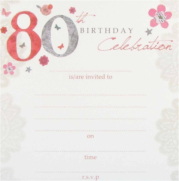 Create 80th Birthday Party Invitation Templates Free