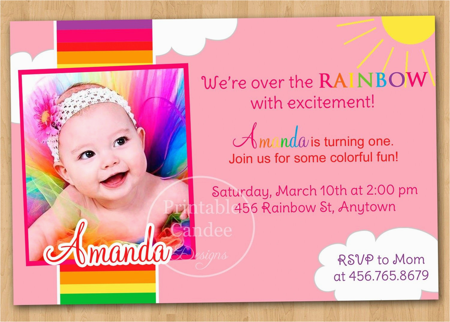 Create First Birthday Invitations Online Free 1st Invitation Cards Templates Theveliger