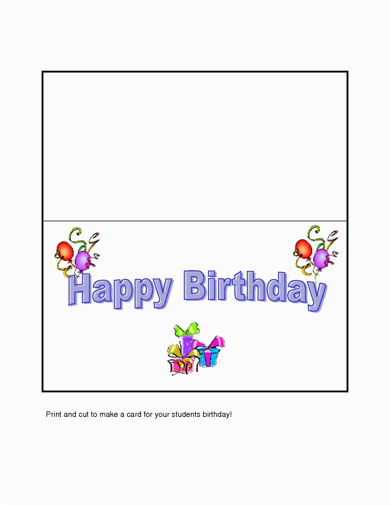 Create Free Birthday Cards Online To Print Printable Happy Holidays