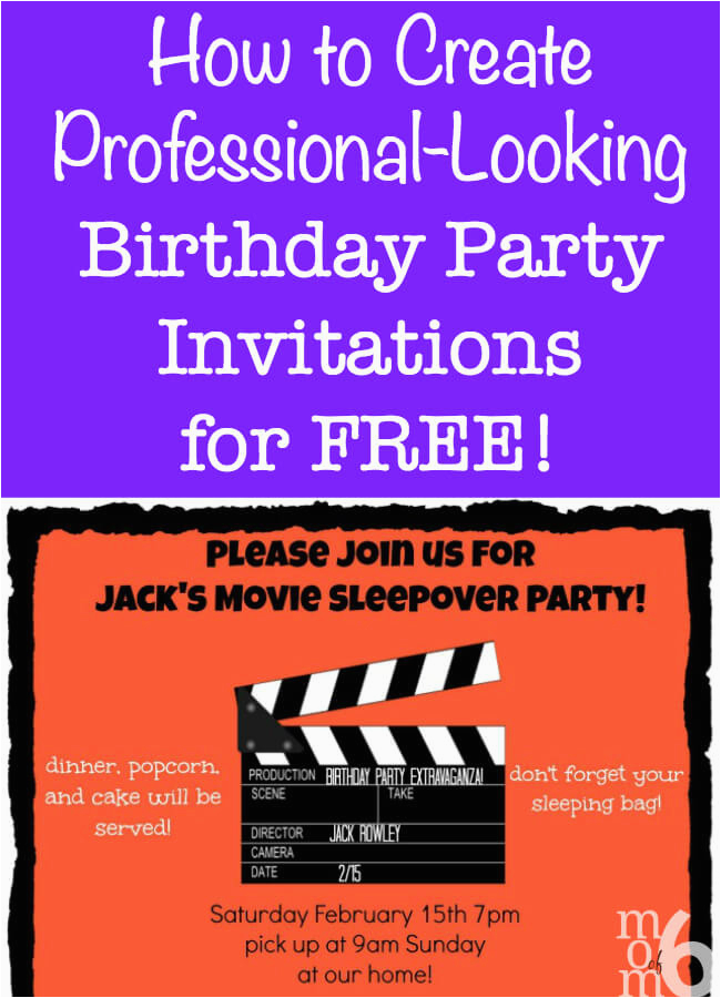 How To Create Birthday Party Invitations Using Picmonkey