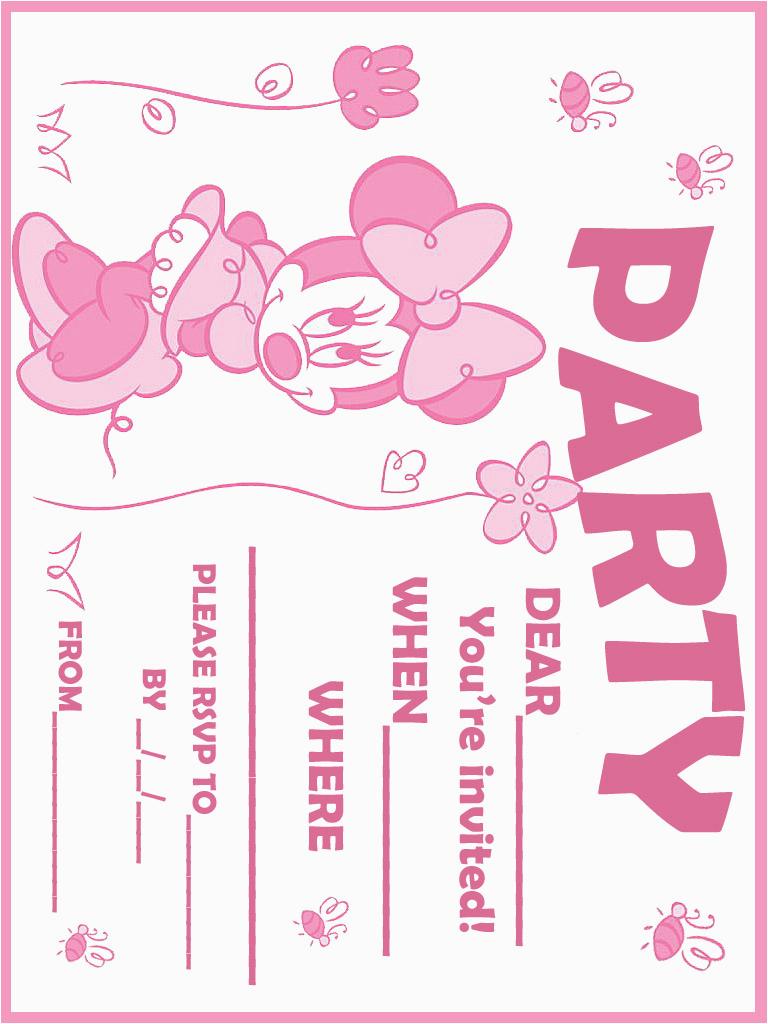 Create Minnie Mouse Birthday Invitations Printable Bagvania