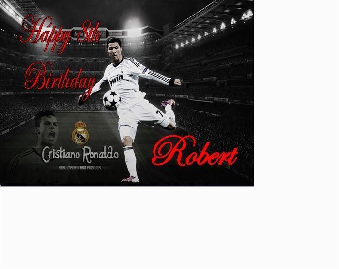 Cristiano Ronaldo Happy Birthday Card Cristiano Ronaldo Real Madrid Portugal Birthday Card