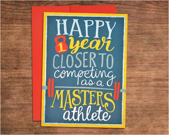 almost a masters athlete crossfit birthday card