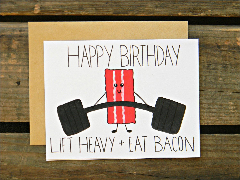 beachbody crossfit fitness bacon paleo birthday card