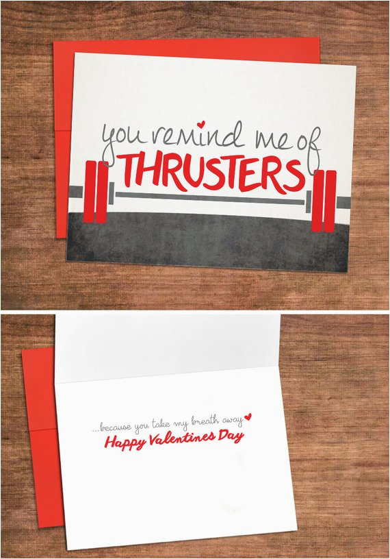 crossfit love valentines card love greeting card for