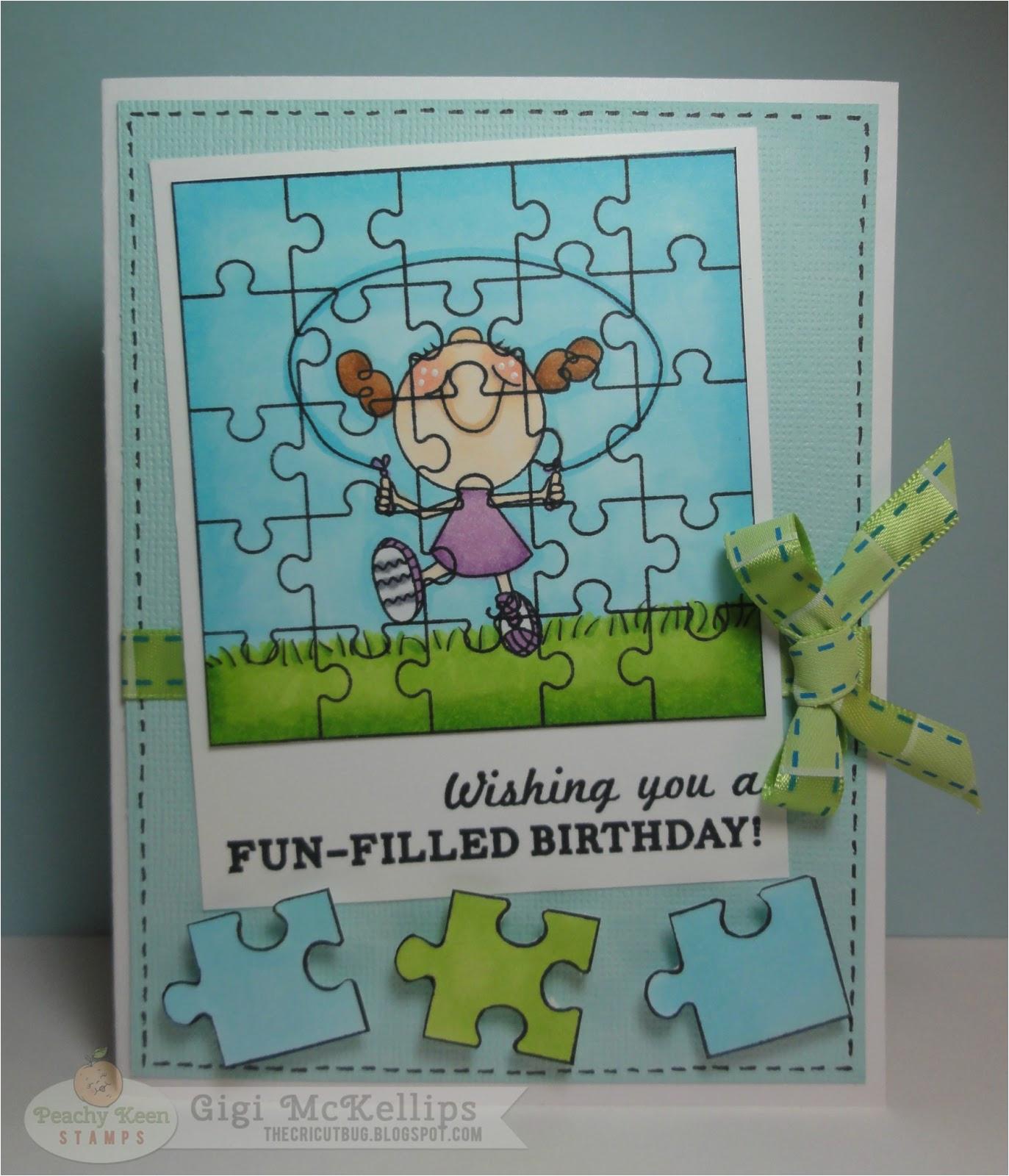 puzzle birthday card