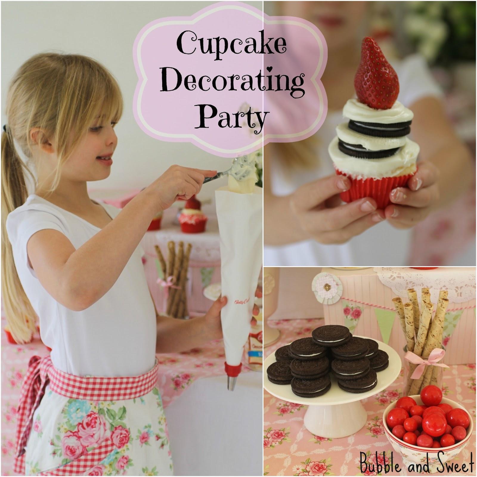 how to host cupcake decorating birthday