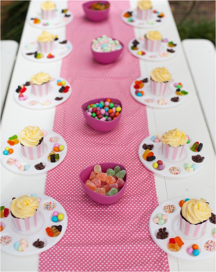 shabby chic baking themed birthday party