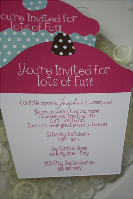 Cupcake First Birthday Invitations Diy Themed 1st