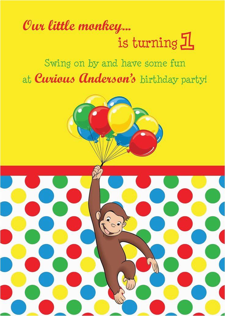 Curious George 2nd Birthday Invitations Best 25 Ideas On Pinterest