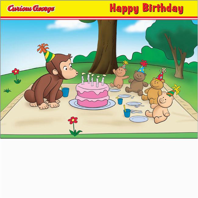 happy birthday picnic curious george